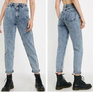 BDG Acid wash mom jeans